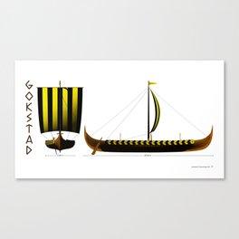 Gokstad Viking Ship Canvas Print