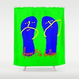 Happy Flip Flops Shower Curtain