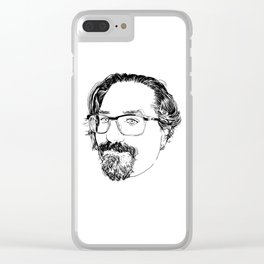 Portrait of my husband Clear iPhone Case