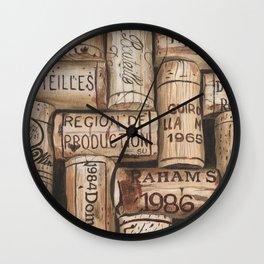 Wine Corks Wall Clock