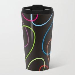Colorful loops on black Travel Mug