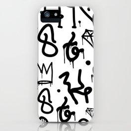 Diamonds & Crowns iPhone Case