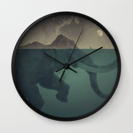 Elephant mountain Wall Clock