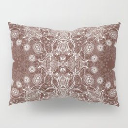 brown Mandala Pillow Sham