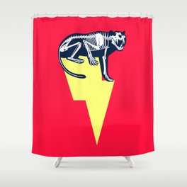 Electro Tiger Shower Curtain