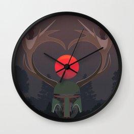 The last elk hunter Wall Clock