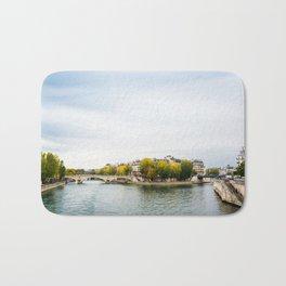 Seine river at Saint Louis island confluence in Paris Bath Mat