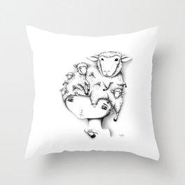 Merino Mutation Throw Pillow