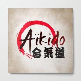 Aïkido v2 Metal Print