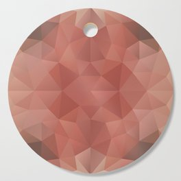 Triangles design in peach and brown colors Cutting Board