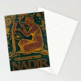 retro poster cigarettes nadir cigarette Stationery Cards