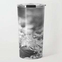 Autumn Leafs (Black and White) Travel Mug