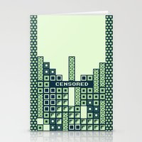 tetris Stationery Cards featuring tantric tetris. by dann matthews