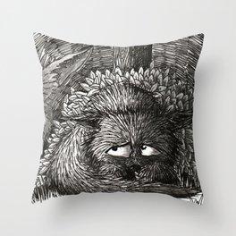 Scaredy Wolf Throw Pillow