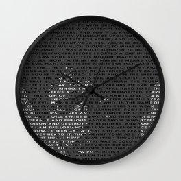 Ezekiel 25:17 Wall Clock