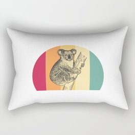 Koala Retro Rectangular Pillow
