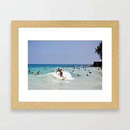 Hawaii Surf Framed Art Print