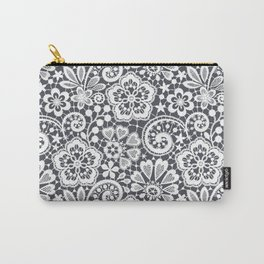 White Lace. Seamless Pattern. Carry-All Pouch
