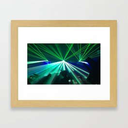 Rave lights Framed Art Print