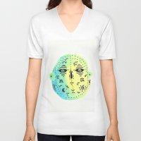 weird V-neck T-shirts featuring weird  by Alba Blázquez