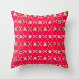 Red flutters Throw Pillow
