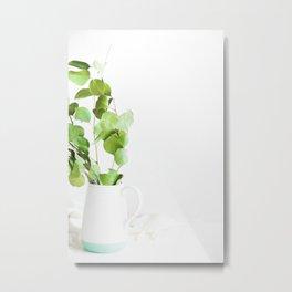 Greenery in a Vase (Color) Metal Print