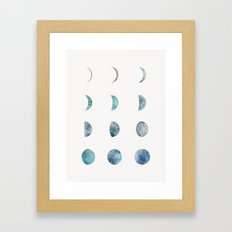 Moon Phases - Light Framed Art Print