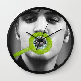 The King Blows Best Wall Clock