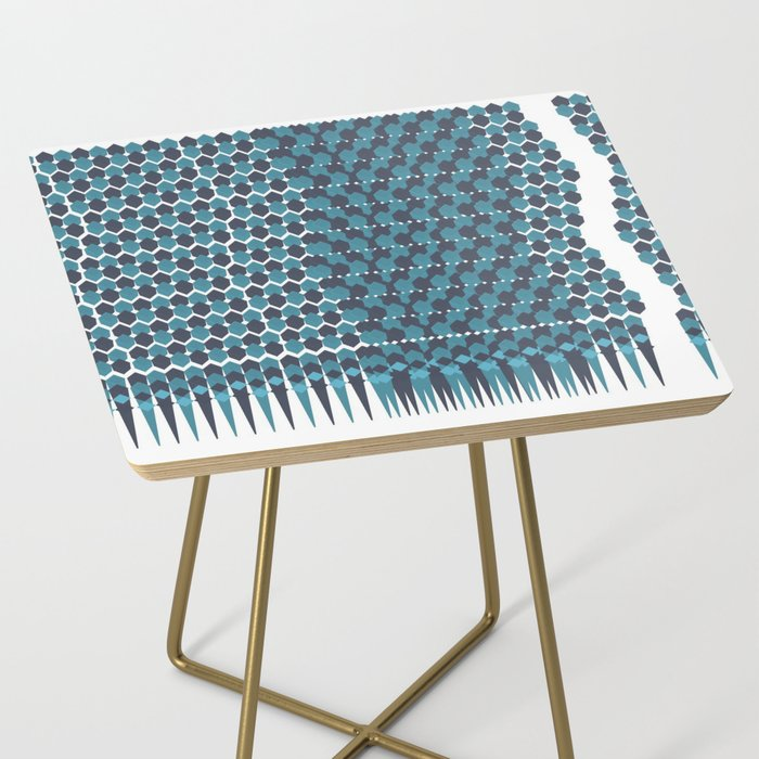 Cubist Ornament Pattern Side Table