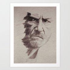 HALF FACE II Art Print