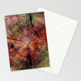 Nature Flow - Modern Pastel Alcohol Ink Wood Stationery Cards