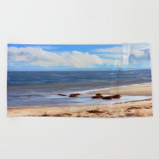 On A Clear Day  Beach Towel