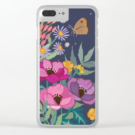 Anemones & Cornflowers Clear iPhone Case