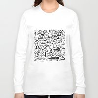 arab Long Sleeve T-shirts featuring Arabian Letters  by Adel