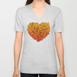 Camera Heart - gradient Unisex V-Neck