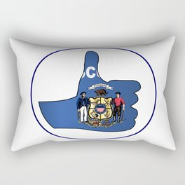 Thumbs Up Wisconsin Rectangular Pillow