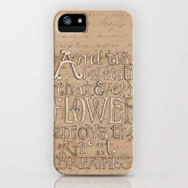 A Flower Breathes iPhone Case