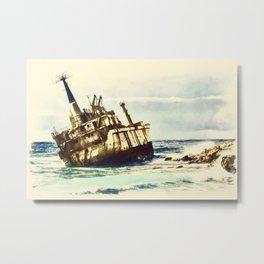 shipwreck aqrefn Metal Print