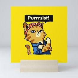 Cat Purrsist Mini Art Print