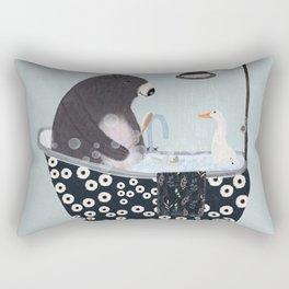 bath time Rectangular Pillow