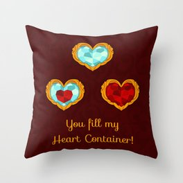 HEART CONTAINER Throw Pillow