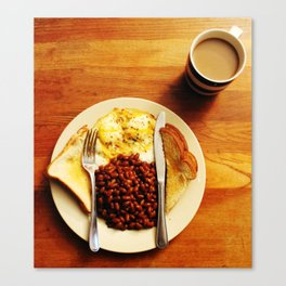 Beans and Eggs Canvas Print