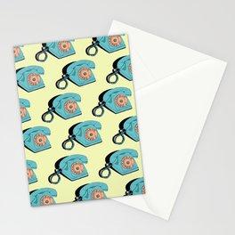 Telephone (yellow & aqua) Stationery Cards