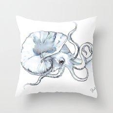 Paper Nautilus, Argonaut Throw Pillow