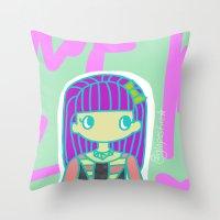 jojo Throw Pillows featuring Jojo by Glopesfirestar