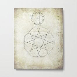 Geometry Sketch Seven Metal Print