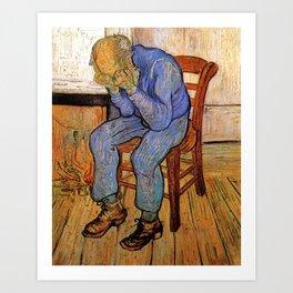 At Eternity's Gate by Vincent van Gogh Art Print