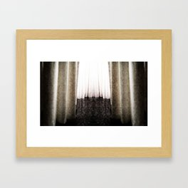 CURTAIN Framed Art Print