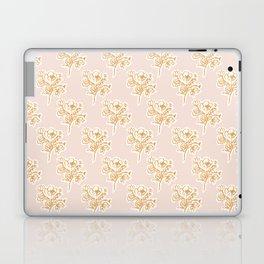 Floral Woodcut - pink Laptop & iPad Skin