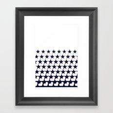 Love Among Stars Framed Art Print